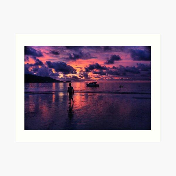 Patong beach sunset Art Print