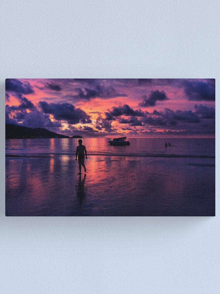 Alternate view of Patong beach sunset Canvas Print