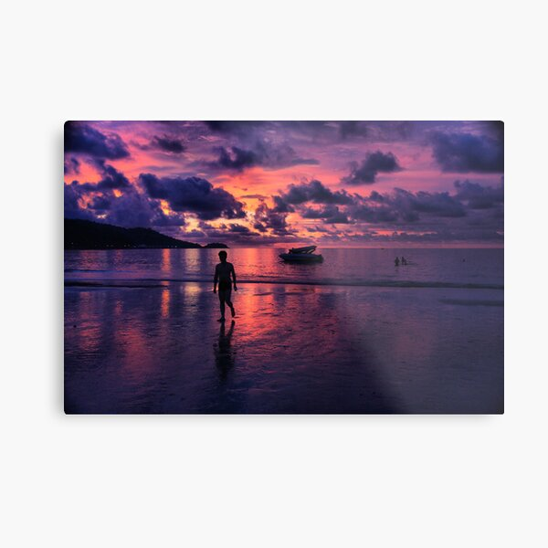 Patong beach sunset Metal Print