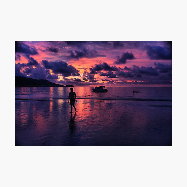 Patong beach sunset Photographic Print