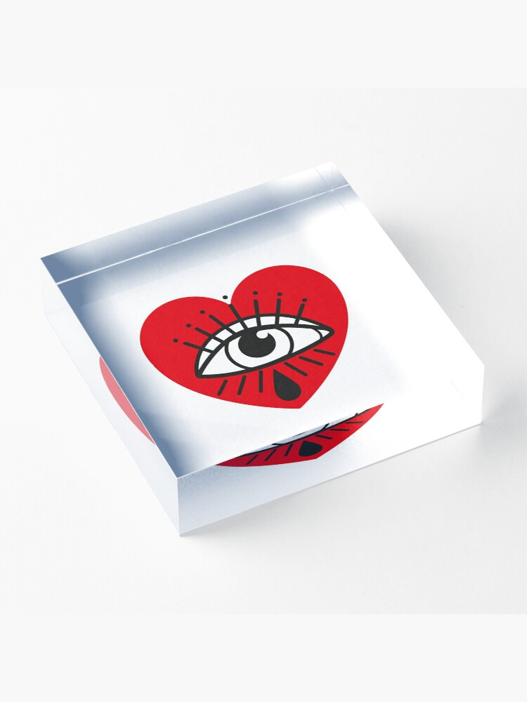 Alternate view of See with your heart Acrylic Block