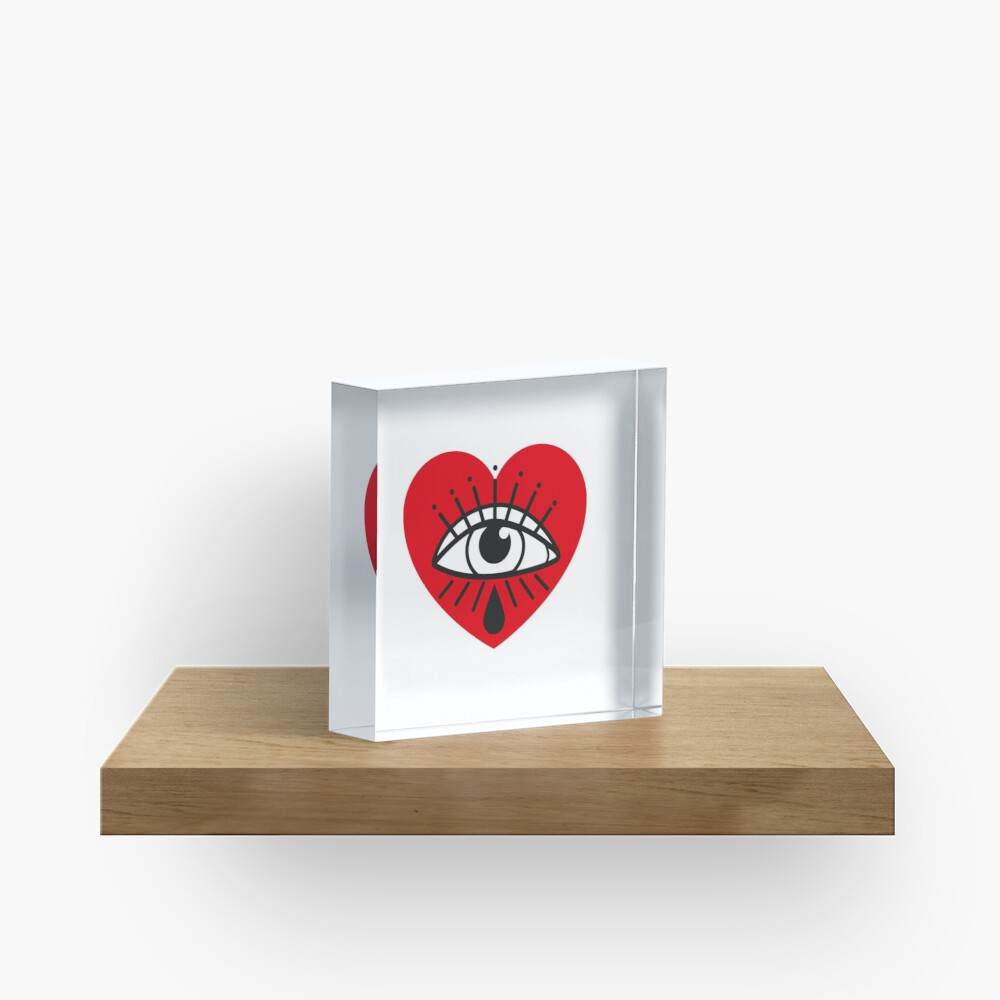 See with your heart Acrylic Block