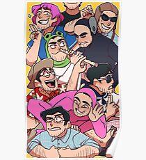 Schmutzige Frank-Charaktere Poster