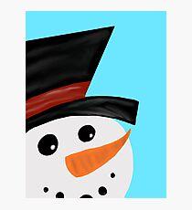 Jolly Snowman Photographic Print