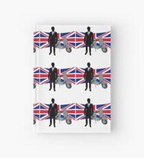 Scooter Mod United Kingdom T Shirt Hardcover Journal