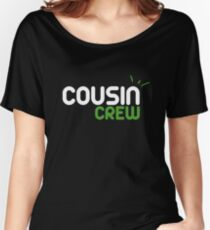 Funny Cousin Crew Shirt Family Birthday Gift Squad Graphic  Women's Relaxed Fit T-Shirt