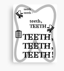 TEETH TEETH TEETH - full tweet version Canvas Print