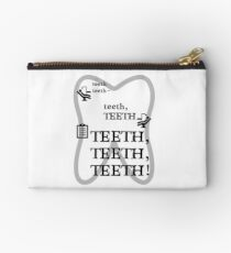 TEETH TEETH TEETH - full tweet version Zipper Pouch