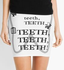 TEETH TEETH TEETH - full tweet version Mini Skirt
