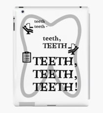TEETH TEETH TEETH - full tweet version iPad Case/Skin