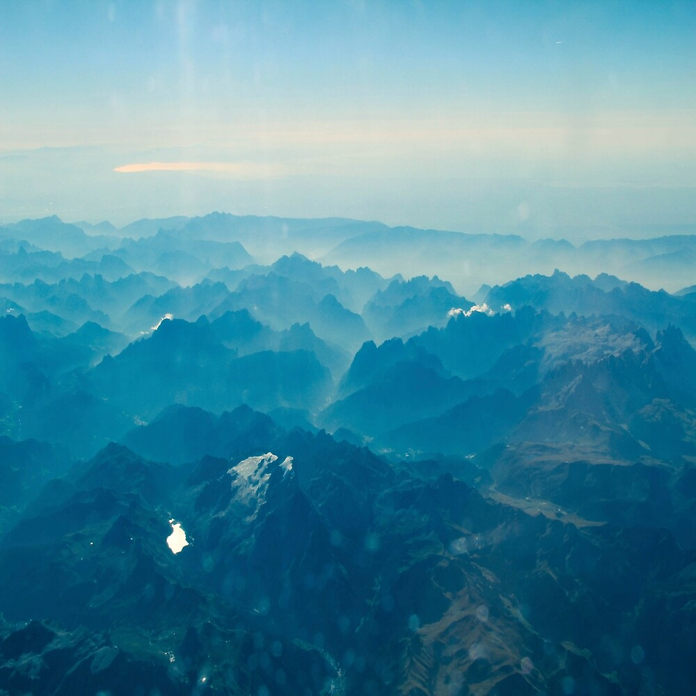 Alps from the plane 3 by LoraSi