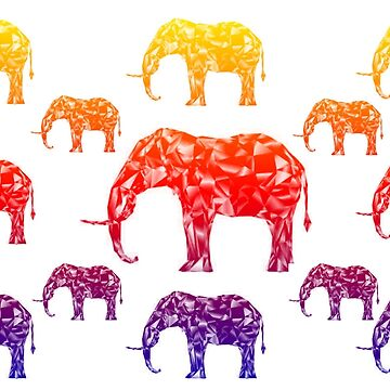 Elephant Family in Color by emma60