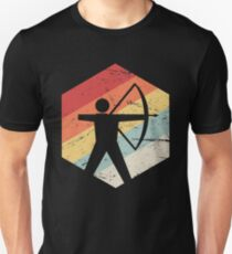 Retro 70s Bow Hunting Archery Icon Unisex T-Shirt