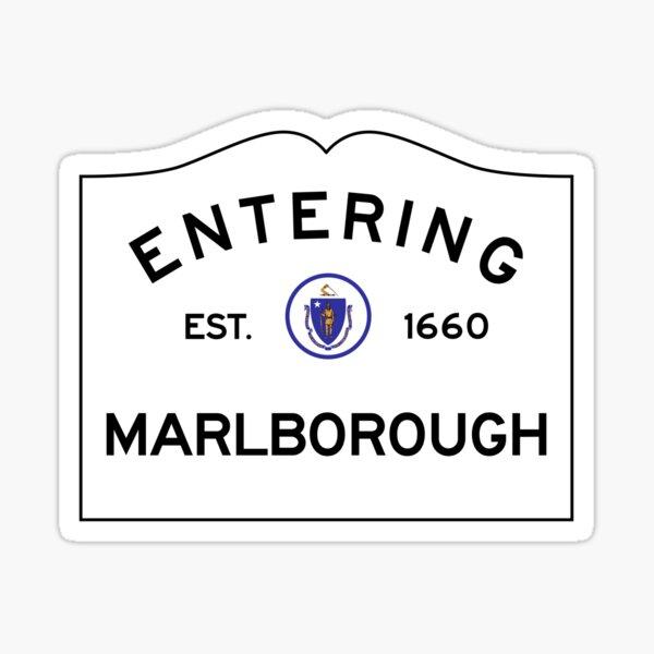 Entering Marlborough Massachusetts - Road Sign Sticker