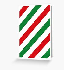 Xmas Stripes Greeting Card