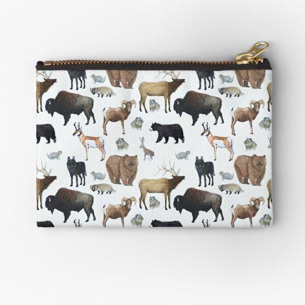 Mammals of Yellowstone National Park Zipper Pouch
