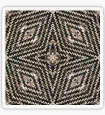 Sweater Weather - A Knit Kaleidoscope Star Pattern - Holiday Season Inspired  Sticker
