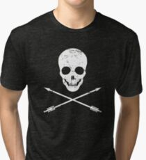 Skull And Arrows – Bow Archery Icon Tri-blend T-Shirt