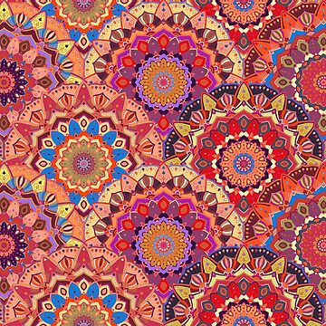 Scales pattern from pink flower mandalas by amovitania
