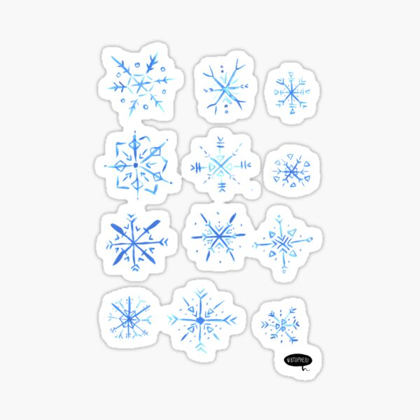 Snowflakes by VIXTOPHER Sticker