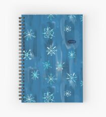 Snowflakes by VIXTOPHER Spiral Notebook