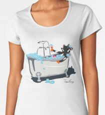 Cow in a Bathtub Women's Premium T-Shirt