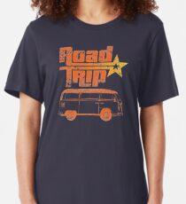 Camiseta ajustada Viaje por carretera en una furgoneta