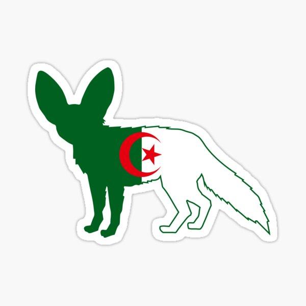 Flag Fennec of Algeria Sticker