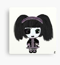 Little Gothic Lolita Kira - Sparkle Party Canvas Print