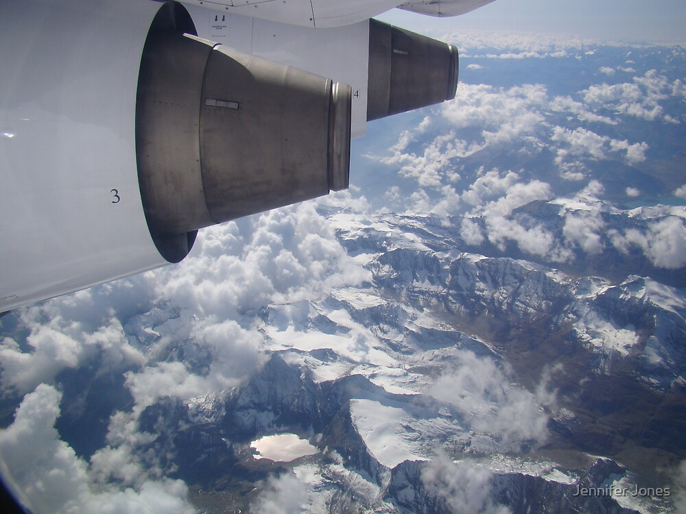 View of the Alps by Jennifer Jones