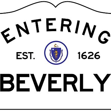 Entering Beverly- Commonwealth of Massachusetts Road Sign by NewNomads