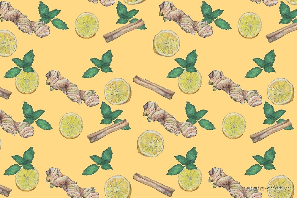ginger lemon tea! by hahaha-creative