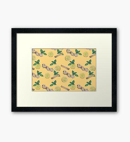 ginger lemon tea! Framed Print