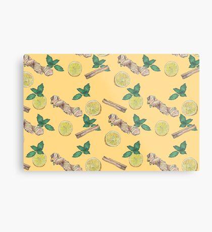 ginger lemon tea! Metal Print