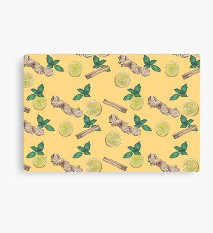 ginger lemon tea! Canvas Print
