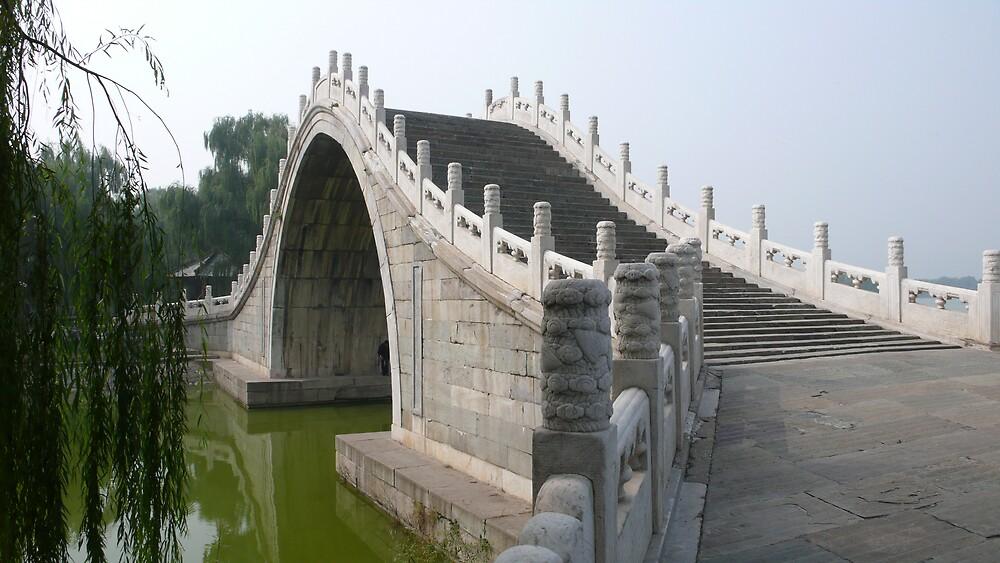 Summer Palace bridge, Beijing China by bluemobi