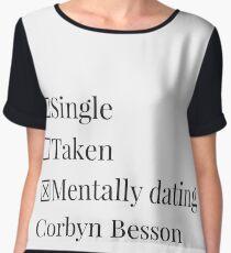 Mentally dating Corbyn Besson  Chiffon Top