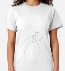 Woman's hands line drawing - Abi Classic T-Shirt
