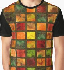 AutumnLeaves Brown Quilt Graphic T-Shirt