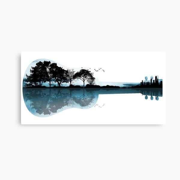 Nature Guitar Canvas Print