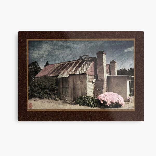Fruit Picker's Hut, Tasmania Metal Print