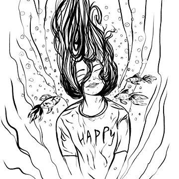HAPPY Bubble girl by Wildflower-Art