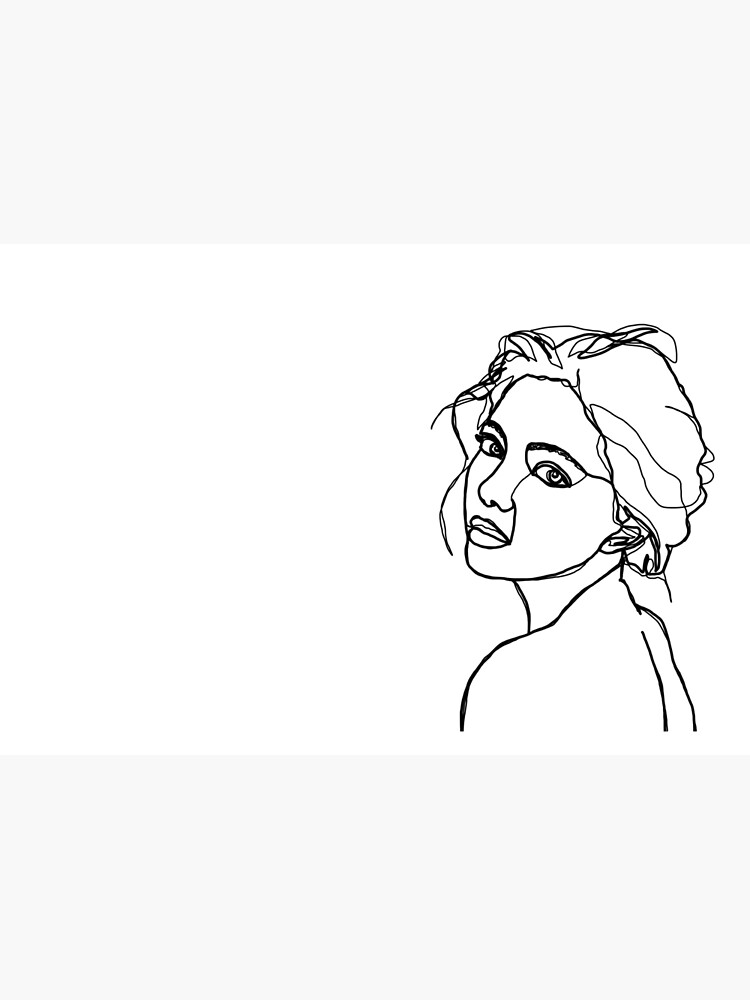 Woman's face line drawing - Adena by TheColourStudy