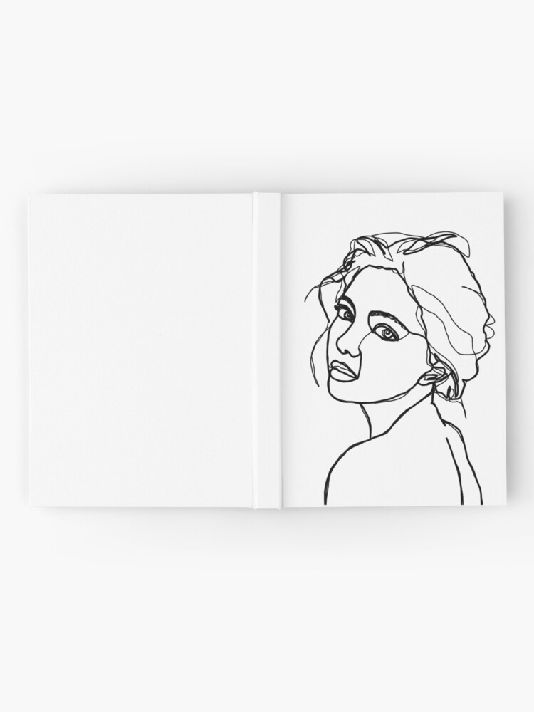 Alternate view of Woman's face line drawing - Adena Hardcover Journal