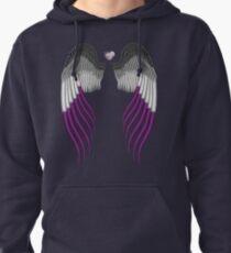 Asexual pride wings Pullover Hoodie