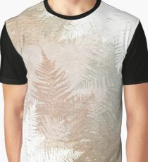 Fern Snowflakes - Golden, bronze & sage Graphic T-Shirt