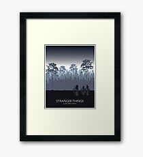 Stranger Things Tribute Art Framed Print