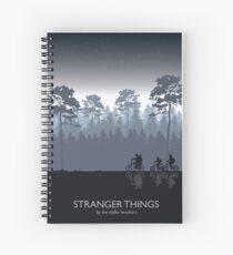 Stranger Things Tribute Art Spiral Notebook