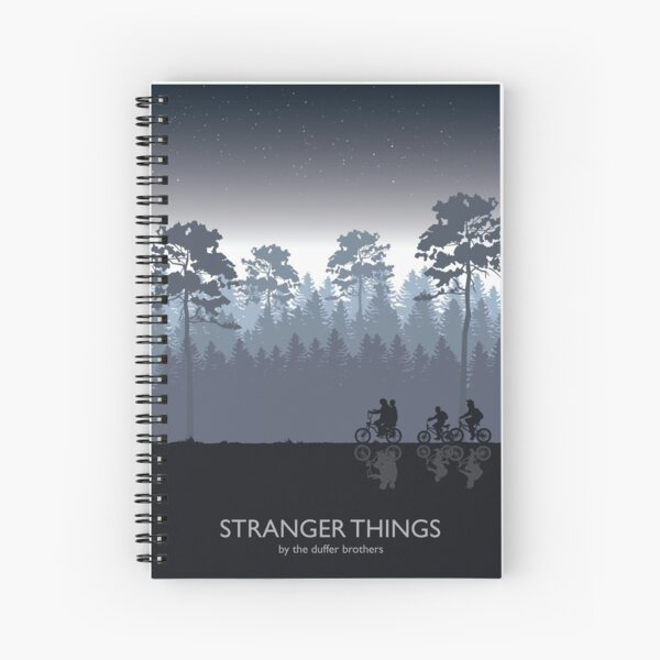 Stranger Things Tribute Art Spiral Notebook