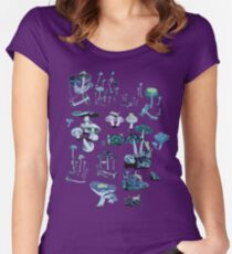 SPACESHROOMS + CATS Women's Fitted Scoop T-Shirt